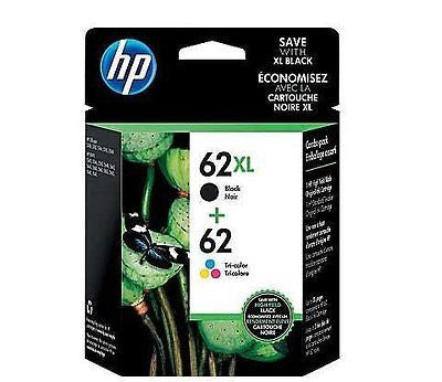 62XL Black/62 Tri-Color Ink Cartridges N9H67FN 2/Pack