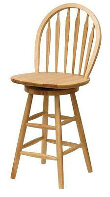 Winsome Wood 24-Inch Windsor Swivel Seat Bar Stool Natural
