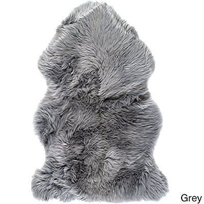 Premium Single Sheepskin Rugs - Grey Color Single 1-Pelt