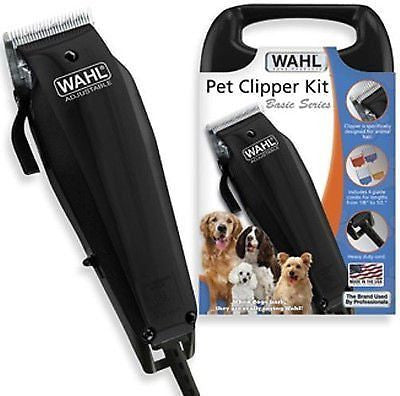 New Wahl Pet Dog Cat Fur Clipper Cutter Kit 10 Piece Grooming Kit