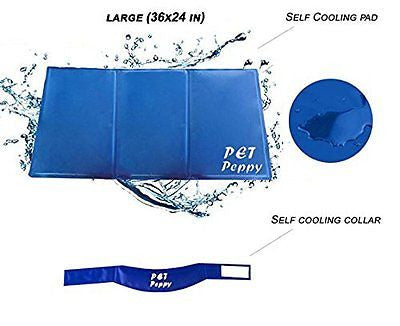 Self Cooling Pressure Activated Pet Bed With FREE Pet Cooling Collar