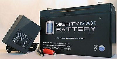 12V 9AH SLA Battery for Lowrance Portable Fishfinder + 12V Charger - Mighty Max