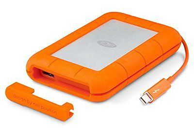 LaCie Rugged Thunderbolt Mobile Hard Drive w/ Integrated Cable 250GB SSD