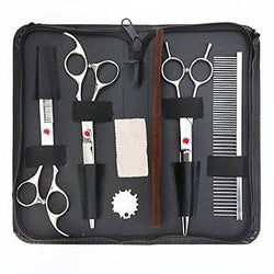 Covenov 3 Pieces Pet Grooming Trimmer Kit Set with 7-inch Scissors