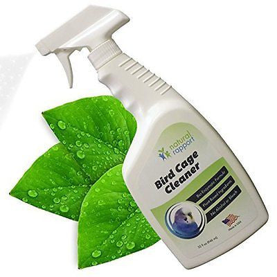 Bird Cage Cleaner and Bird Poop Remover - Great for cleaning up bird droppings