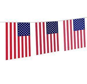 USA Flag Stars Stripes Party Banner 20 Flags 4th of July Bunting BBQ Decoration