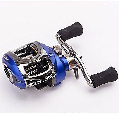 Entsport Titanium Alloy Casting Reel Saltwater Low Profile Baitcasting Fishing