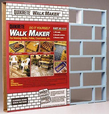 Quikrete Walk Maker 2 ' X 2 ' Brick Pattern Form