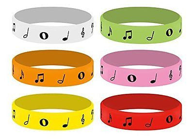 Music Inspired Silicone Music Bracelets