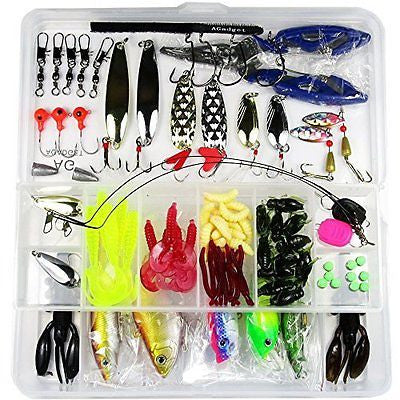 AGadget Fishing Lures 101PCS/Box Mixed Lots including Hard Lure Minnow Popper C