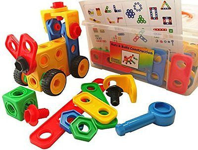 Nuts and Bolts Building Toy for Toddlers with Tool Box Storage Container, Idea