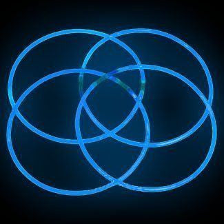 "50 22"" Lumistick Premium Glow Necklaces - Blue"