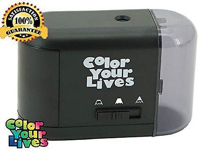 Pencil Sharpener Electric and Battery Operated-Best Quiet Portable Personal