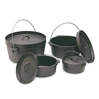 CAST IRON DUTCH OVEN - 2 QT - WITHOUT LEGS, Case of 4