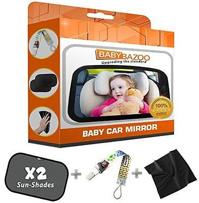 #1 Top Rated Baby Car Mirror Wide Back Seat Rear View Free Window SunShades