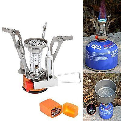 Camping Stove LoShane Ultralight Mini Outdoor Backpacking Camping Stove with Pi