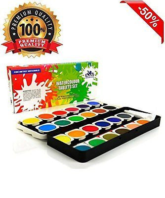 Watercolor Paint Set - The Best Artist Kit of 24-Color Paint - For Kids Adults