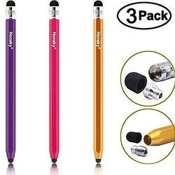 Metal Pencil Stylus Pen, Honsky? 3 Packs of Six Sided Slim Long Capacitive