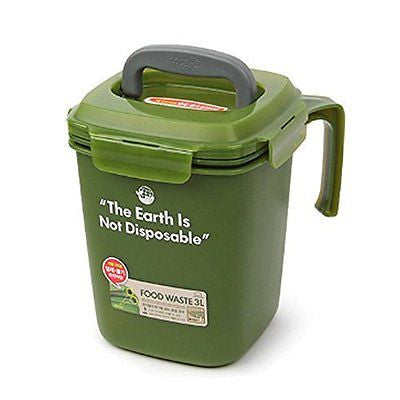 Lock&Lock Food Waste Bin 3L Purple, Gay, Green, Brown Color (Green)