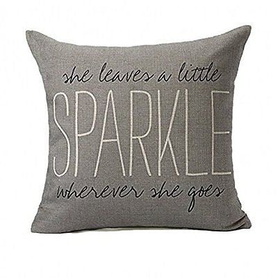 Gray Quote Words Pillow Case Cushion Cover Home Decor for Sofa 18 X 18 inch