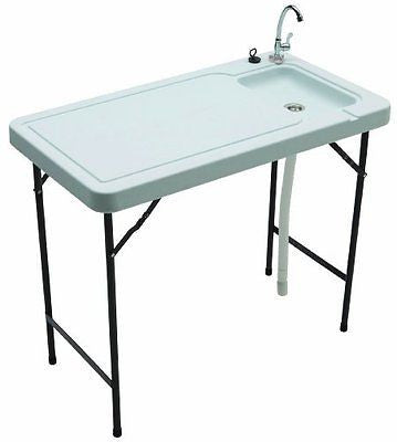Tricam MT-2 Fish Game Cleaning Table Quick-Connect Stainless Steel Faucet