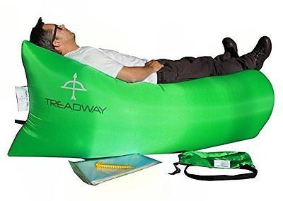 Inflatable lounger. FREE inner-tube & FREE tent peg. Quality rip-stop