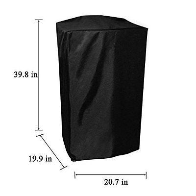 Onlyfire 30-Inch BBQ Grill Cover for Masterbuilt Propane Smoker, Black