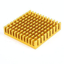 Water & Wood Aluminum Heat Sink Cooling Fin Cooler 45mmx45mmx10mm Copper Tone