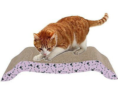 Vivaglory Cat Scratcher Corrugated Scratching Pad Cardboard Cat Lounge with Catn