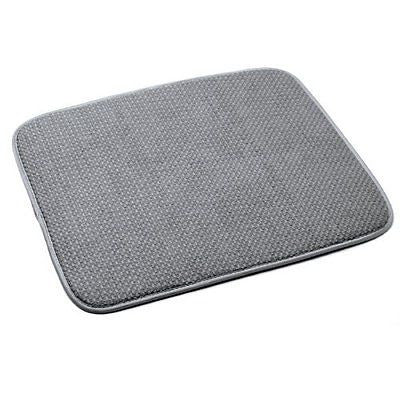 16 by 18-Inch Microfiber Dish Drying Mat, Gray