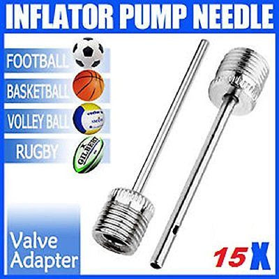 "15 Piece Inflation Needle Set - High-Flow Universal 1/2""Inch Stainless Steel"