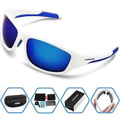 Torege Polarized Sports Sunglasses For Man Women Cycling Running Fishing Golf