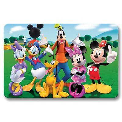 Floor Mat Washable Door Mats Non Skid Mickey Mouse Clubhouse Bedroom Living