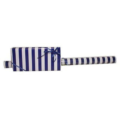 JAM Paper? Wrapping Paper - Jumbo (40 Sq Ft) - Blue & White Stripe