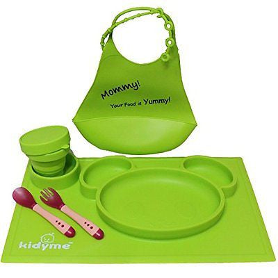 Children Placemat Set by Kidyme? All-in-One Kids Flatware Dining Tray