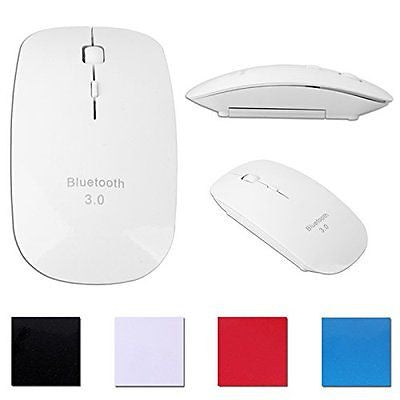 HDE Sleek Ergonomic Wireless Bluetooth Flat Slim Optical Mouse