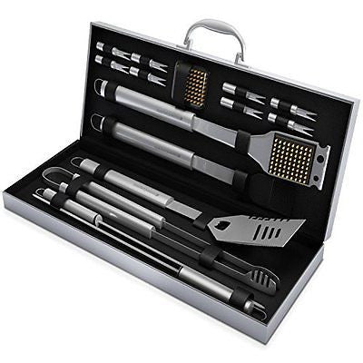 BBQ Grill Tools Set with 16 Barbecue Accessories -Perfect Christmas Gifts Idea