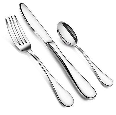 Artaste 59380 Rain 18/10 Stainless Steel Flatware 36-Piece Set Service for 12