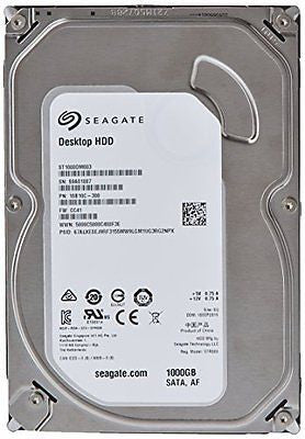 Seagate 1TB Desktop HDD SATA 6Gb/s 64MB Cache 3.5-Inch Internal Bare Drive (ST1