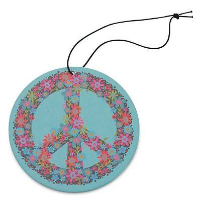 Natural Life Blue Peace Sign Air Freshener (Jasmine) - 3pk