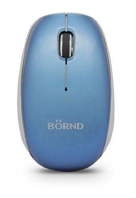Bornd 1000/1750 DPI Bluetooth 3.0 Optical Wireless Mouse Blue (C170B BLUE)