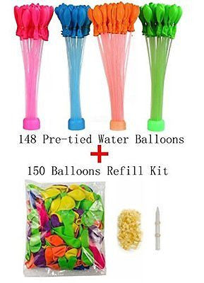 Quick Fill 148 Water Balloons in 60 seconds Great For Pool Party Kids Toy Game