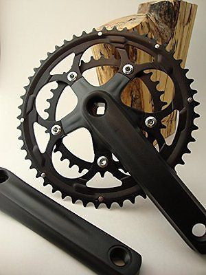 MN Cyclery M3 150 mm Road Bike Crankset; 110 BCD; Standard compact 50/34t
