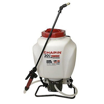 Chapin 63985 4-Gallon Wide Mouth 20v Battery Backpack Sprayer, Powered by Black