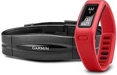 Garmin v¨ªvofit Fitness Band - Red Bundle (Includes Heart Rate Monitor)