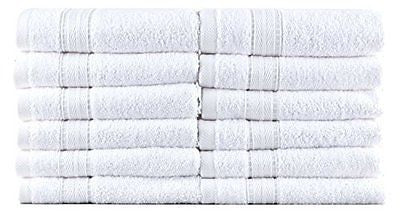 Bergamo, Luxury Hotel/Spa Washcloths, 100 Percent Turkish Cotton, Set of 12