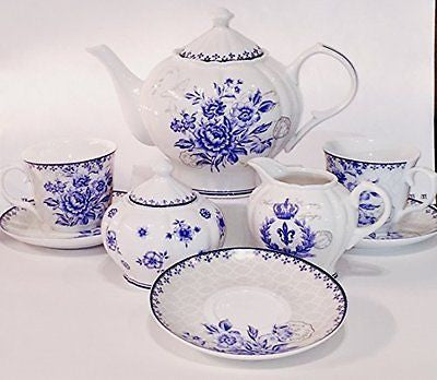11-piece China Tea Set (Blue Dream) China Tea Service Tea Set