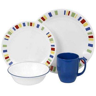 Livingware 16-Piece Dinnerware Set Memphis Service for 4