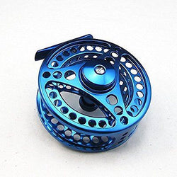 95mm 7/8 CNC Machined Aluminum Fly Fishing Reel Large Arbor Blue Color