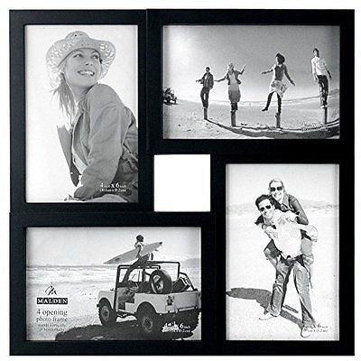 Malden International Designs Puzzle 4-Way Opening Plastic Picture Frame Collage